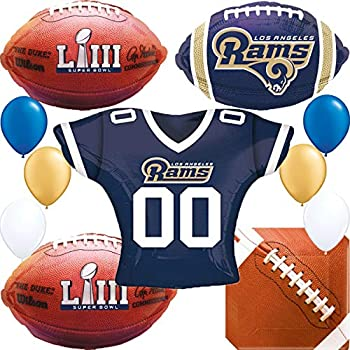 NFL LOS ANGELES RAMS LARGE PAPER PLATES Birthday Party Supplies
