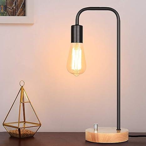 Amazon.com: Lámpara de mesa industrial, lámpara Edison, A001 ...