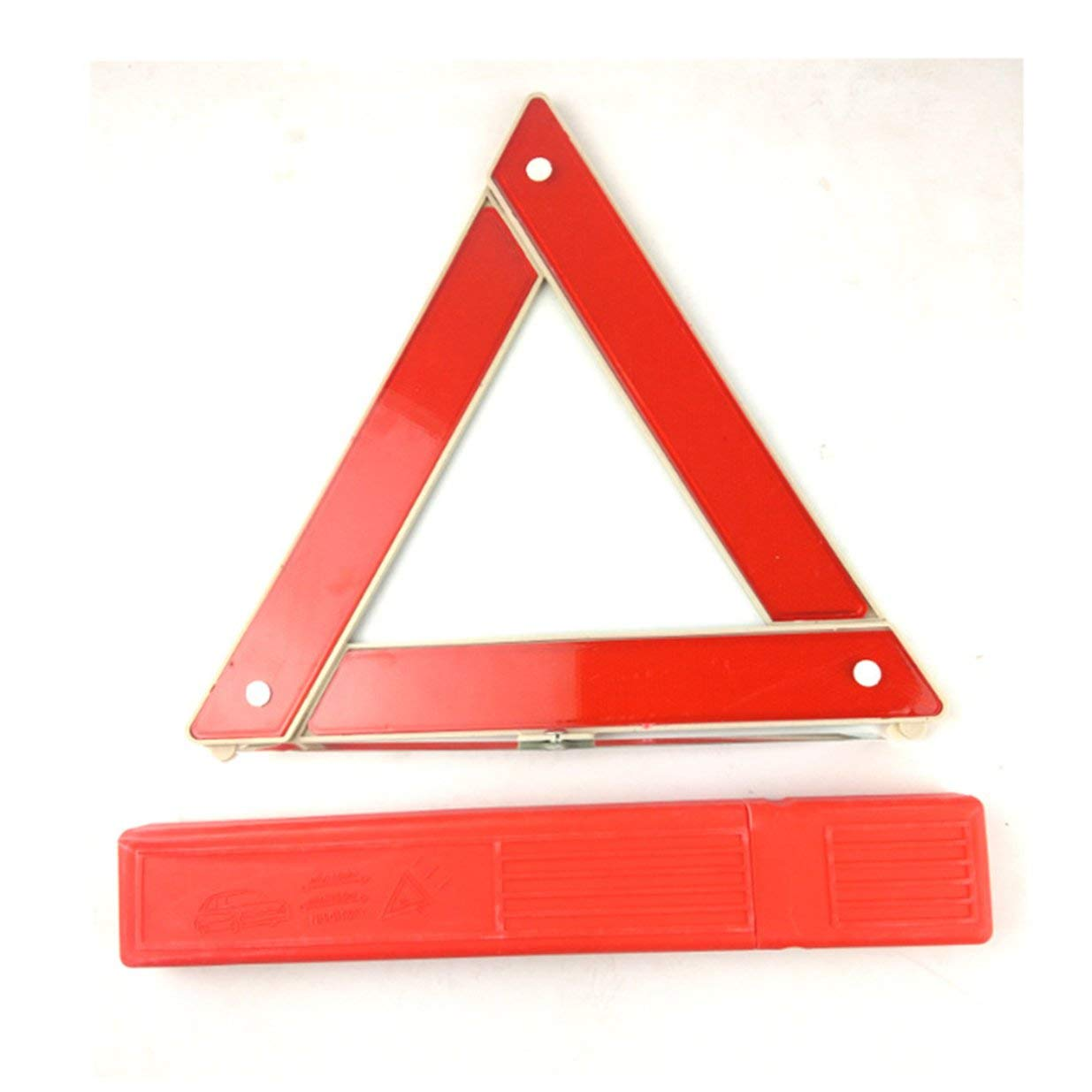 Banbie8409 Auto-Selbstsicherheitsnotfall-reflektierendes Warndreieck-rotes Auto-Warnzeichen-rot