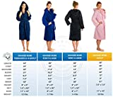 Kids Teenagers Girls Boys Hooded Robe Unisex 100% Turkish Cotton Terry Bathrobe (XX-Large 50' Length (Adult), Hot Pink)