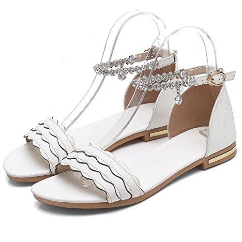 Coolcept Women Open Toe Sandals Flats White-13 XmYJ0OKrq