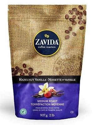 Zavida Premium Hazelnut Vanilla Whole Bean Coffee, 2 LB from Zavida