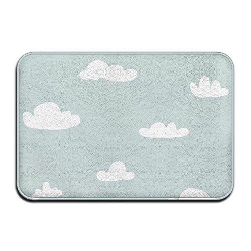 Wyuhmat1 Non-Slip Mat 40x60cm Doormat White Cloud Non-Slip Rug - Collection Kitchen Dining Living Hallway Bathroom Pet Entry Rugs