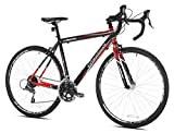 Giordano 42742 Libero 1.6 Road Bike, Black/Red, 56cm/Medium