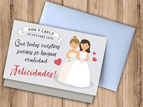 Tarjeta sobre para regalar dinero boda chicas.: Amazon.es: Handmade