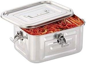 TULGIGS Stainless Steel Rectangular Kimchi Food Storage Container (5L / 168oz / 10.6