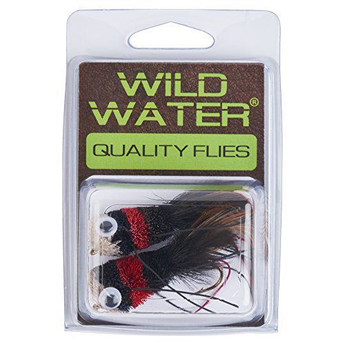 (Wild Water Red, Black and White Deer Hair Bass Bug, Size 2, Qty. 2)