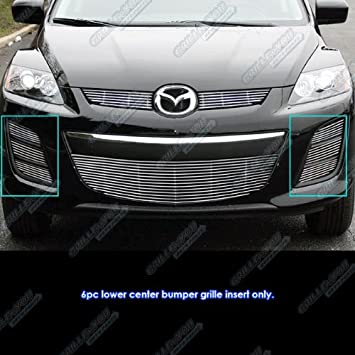 Fits 2010-2012 Mazda CX-7 CX7 Lower 6 Side Pieces Billet Grille Grill Insert