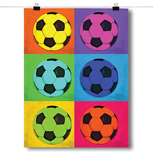 Inspired Posters Pop Art - Soccer Poster Size 18x24 by Inspired Posters