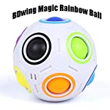 Magic Rainbow Ball – Bdwing BD09 2.5 Inches Intelligence Magical Rainbow Ball Cube Fidget Toy, 3D Puzzle Toys, Fun Fidget Balls, Football Design, Speedcube Educational Toy for Kids and Adults