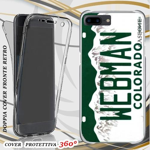 CUSTODIA COVER CASE TARGA COLORADO PER IPHONE 7 PLUS FRONT BACK