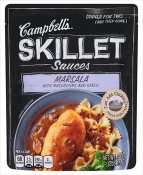 Marsala Pasta Sauce - Campbell's Marsala with Mushrooms & Garlic Skillet Sauces 9 oz