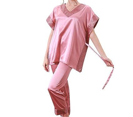 No Way Sway Hot Fashion Women Pajamas Summer Satin Pijama Short Sleeve Silk Pajamas Sets Coral