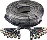 Stagg 100ft. Multicore Cable - 8 x Female XLR / 8 x Male XLR
