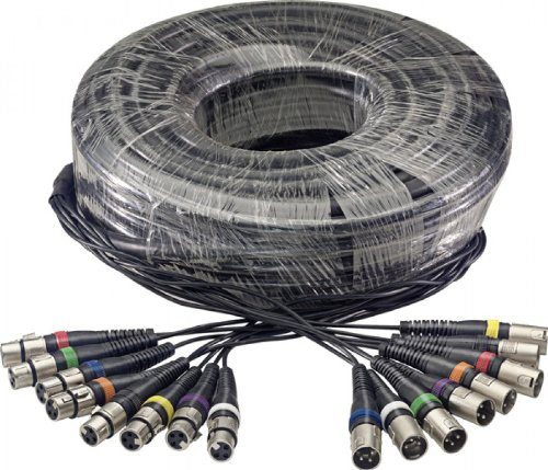 Stagg 100ft. Multicore Cable - 8 x Female XLR / 8 x Male XLR by Stagg