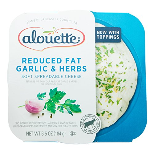 Spread Cheese Herb Cream - Alouette Reduced Fat Garlic Herb, 6.5 oz