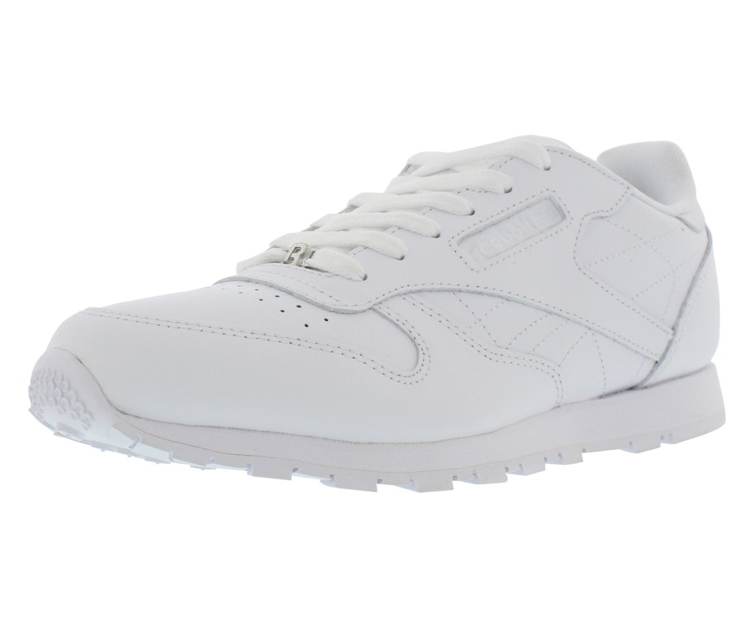 Reebok Classic Leather Shoe,White/White/White,6.5 M US Big Kid