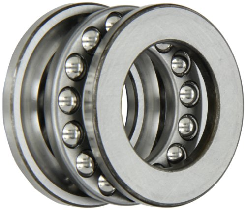 SKF 51208 Grooved Race Thrust Bearing, 3 Piece, ABEC 1 Precision, 90° Contact Angle, Open, Steel Cage, Metric, 40mm Bore, 68mm OD, 19mm Width, 106000.0 pounds Static Load Capacity, 46800.00 pounds Dynamic Load Capacity