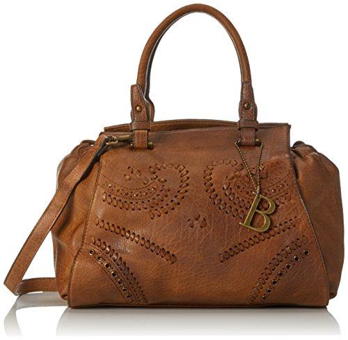 Bulaggi Damen Izaks Handbag Henkeltasche, 24x15x30 cm Braun (Kognak)