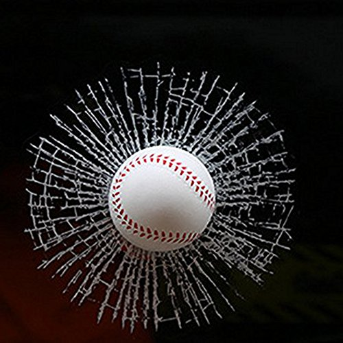 Clings Baseball Window (3D Car Decals Window Sticker Windshield Decoration Baseball)