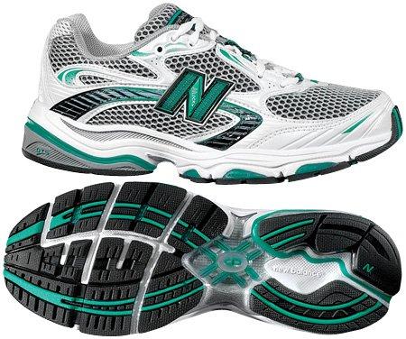 New Balance Mujeres Wr1062 Zapato De Running Blanco / Verde / Negro