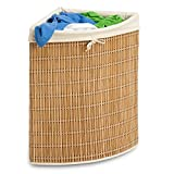 Honey-Can-Do HMP-01618 Wicker Corner Hamper, Clothes Organizer