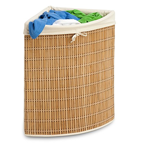 51X5kecj%2BkL - Honey-Can-Do HMP-01618 Wicker Corner Hamper, Clothes Organizer