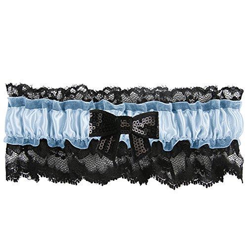 Ivy Lane Design Britney Sequin Bow Garter, Standard, Light ()