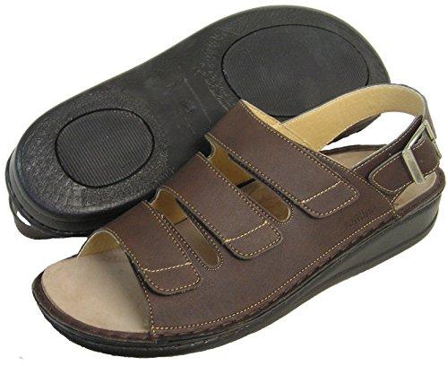 Fidelio Mens Sandalo Regolabile Soft-line 375024 (mocca)