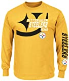 Pittsburgh Steelers Yellow Gold Dual Threat VI (6) Long Sleeve T-Shirt