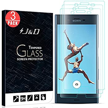 J&D Compatible for 3-Pack Xperia XZ/Xperia XZs Glass Screen Protector, [Tempered Glass] [Not Full Coverage] HD Clear Ballistic Glass Screen Protector for ...