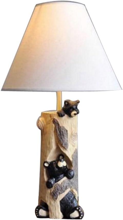 Rishx Osos lindos Resina Animal Lámpara de mesa de luz Lámpara de ...