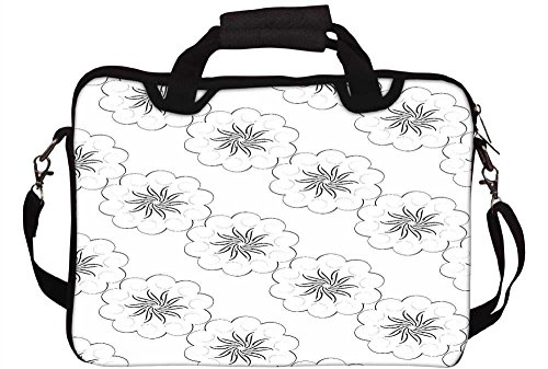 Snoogg verdeckt Sterne Muster Laptop Netbook Computer Tablet PC Schulter Case mit Sleeve Tasche Halter für Apple iPad/HP TouchPad Mini 210/Acer Aspire One und die meisten 24,6cm 25,4cm 25,7cm 25,9