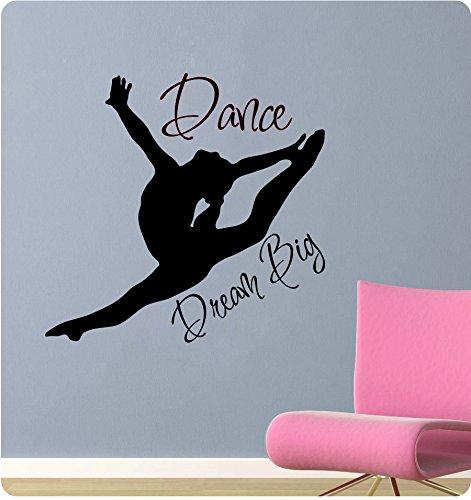 "24"" Dance Silhoute Dream Big Wall Decal Sticker Art Mural Home Décor"