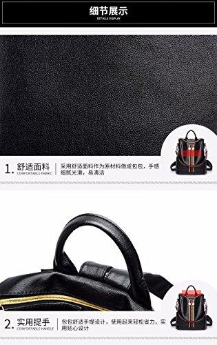 Bandoulière Usage Tendance Décontractée a Sac Femelle Souple Sac Cuir Double Bandoulière personnalité à à Unique Femelle black MSZYZ Sac WIw7p580qw