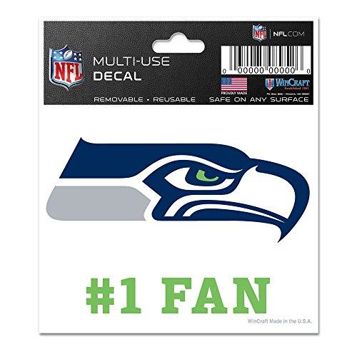 WinCraft NFL Seattle Seahawks 95630012 Multi-Use Decal, 3