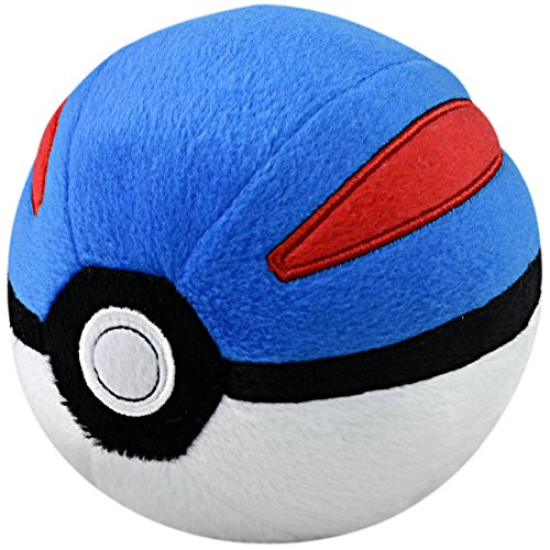 Takaratomy Pokemon Great Ball Stuffed Plush, 4