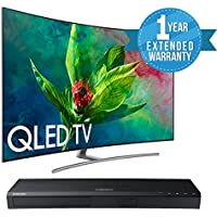 "Samsung QN65Q7C CURVED 65"" QLED 4K UHD 7 Series Smart TV 2018 BUNDLE WITH Samsung UBD-M7500/ZA 4K UHD Blu-Ray Player + 1 Year Extended Warranty"