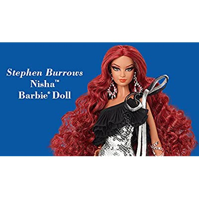 BDH37 Stephen Burrows Nisha Barbie Doll - Nisha is named for the Cherokee word for night. No more than 4400 units produced worldwide: Toys & Games