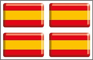 Artimagen Pegatina Bandera Rectángulo 4 uds. España Resina 30x18 ...
