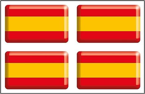 Artimagen Pegatina Bandera Rectángulo 4 uds. España Resina 30x18 mm/ud.: Amazon.es: Coche y moto