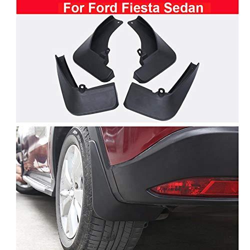 4pcs Plastic Tire Mudguard Splash Guards Mud Flaps For Ford Fiesta Sedan 2009 2010 2011 2012 2013 2014 2015 2016 2017 2018 free shipping