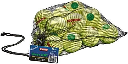 Tourna Green Dot Low Compression Tennis Balls 12 pack