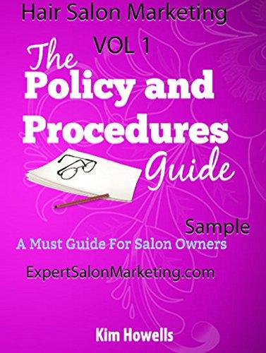 Salon MarketingPolicy And Procedures Manual Mark 2015 By Howells Kim