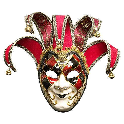 (HaiYC Full Face Mask, 1Pc Painted Halloween Dance Party Mask Upscale Venice Men Performing Mask,6.3 x 17 inches (Men)