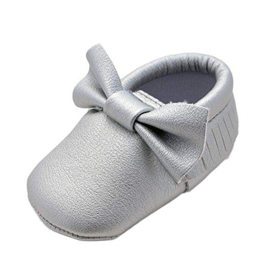 Baby Baby Unisex Babys Plateau mit Transer Silber Jungen Mädchen Keilabsatz Durchgängies Sandalen RUIgnWZWx