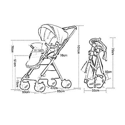 PLDDY Bolsa de Mascotas Cochecitos para bebés Cochecito Ligero, Sistema de Viaje, sillones Plegables con Ruedas Plegables, Funda Protectora y Protector ...