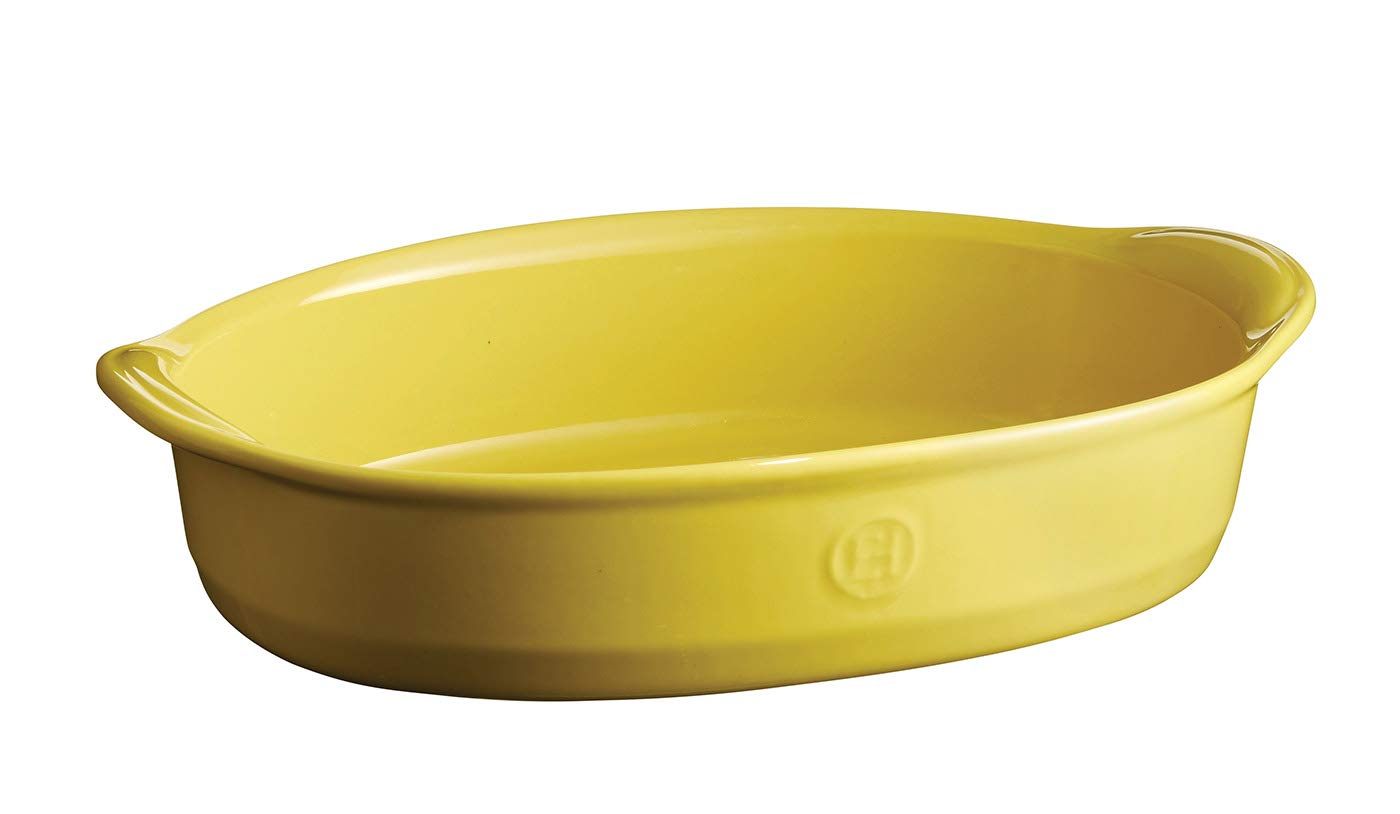 Emile Henry EH909052 Ultime Small Oven, Provence Yellow oval baking dish, 2.43 qt, by Emile Henry