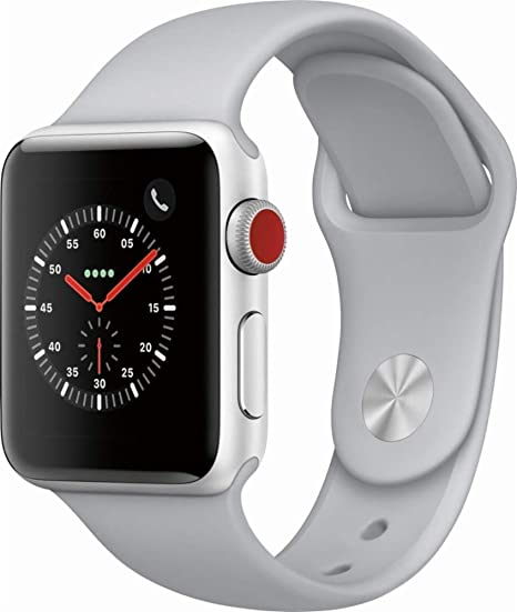 Amazon.com: Apple Watch Nike Serie 3 (GPS + Celular), Correa deportiva  blanca, 38 mm, Plateado