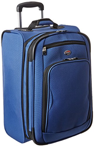 American Tourister Splash 2 Upright 21, True Blue, One Size (American Tourister Delite 21 Spinner Carry On Luggage)